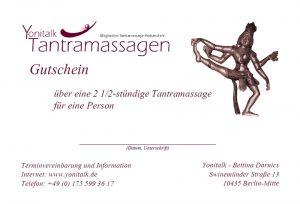 Tantramassage Berlin - Gutschein
